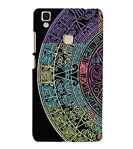Astrology Design 3D Hard Polycarbonate Designer Back Case Cover for VIVO V3 MAX