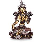 Collectible India Tara Buddha Idol Tibetan Bronze Buddhism Yin Kwan Goddess Buddhist Statue -Antique Buddha Brass...