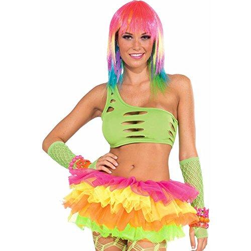 Forum Novelties Neon Rainbow Mesh Costume Tutu, Multi-Colored, One Size - 1