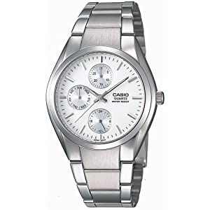 Casio Men's MTP1191A-7A White Silvertone Analog Bracelet Watch