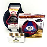 Grillbot Automatic Grill Cleaner, Black Bundle with Brass Brush