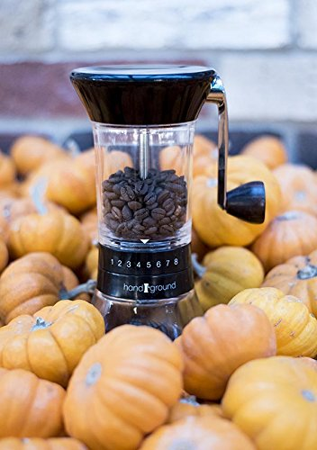 Handground Precision Coffee Grinder: Manual Ceramic Burr Mill - Black