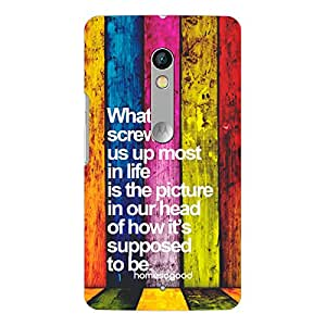 HomeSoGood Colorful Inspiring Quote 3D Mobile Case For Moto X Play (Back Cover)