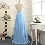 Vickyben Evening Prom Dress Long Chiffon Lace Appliques