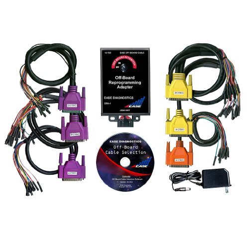 EASE J2534 Pass-thru GM, Ford & Chrysler Powertrain Off-board Reprogramming Cable Set (6 Cables) & Adapter for Drew Tech CarDAQ-Plus J2534 Reprogrammer