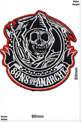 Patch - Sons of Anarchy - Biker - Rocker - Chopper - Chaleco - toppa - applicazione - Ricamato termo-adesivo - Give Away