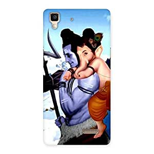 Cute Bholenath And Ganesha Multicolor Back Case Cover for Oppo R7