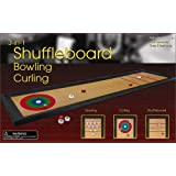 Tabletop 3-in-1 Shuffleboard, Bowling, and Curling Game Set