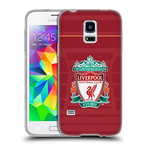 Official Liverpool Football Club Crest Home Shirt Kit 2016/17 Soft Gel Case for Samsung Galaxy S5 mini (Chs Duo compare prices)