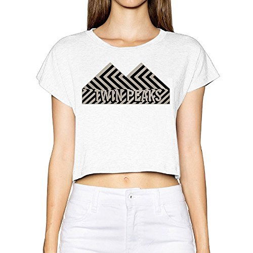 Twin Peaks Logo T Shirt Womens Printed Crop Top Tee (Twin Peaks T Shirt Womens compare prices)