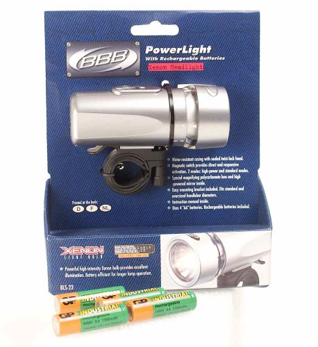 BBB PowerLight Xenon Bike Front Headlight Rechargable - BLS-23