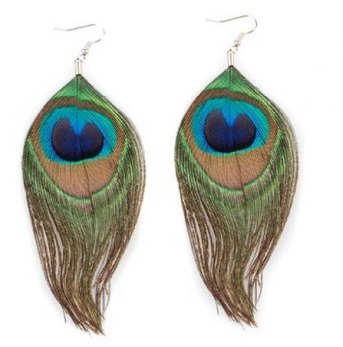 1-Pair-Fashion-Frauen-Boehmen-Art-Pfau-Peacock-Multicolor-Feder-Ohrringe-Ohrstecker-Ohrschmuck-Geschenk