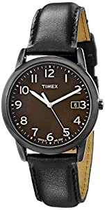 """Timex Men's T2N947 """"Elevated Classics"""" Watch with Leather Band"""