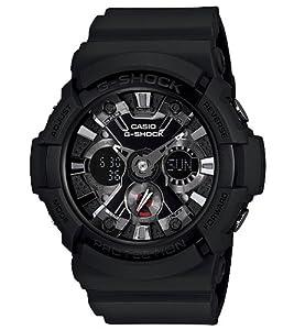 Casio Men's GA201-1 G-Shock Shock Resistant Black Resin Analog Sport Watch