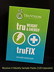 TRUVISION HEALTH - TRUFIX/TRUWEIGHT&ENERGY - 30 DAY SUPPLY - FOUR 7.5 DAY SAMPLE PACKETS AT LOWER PRICE (120)