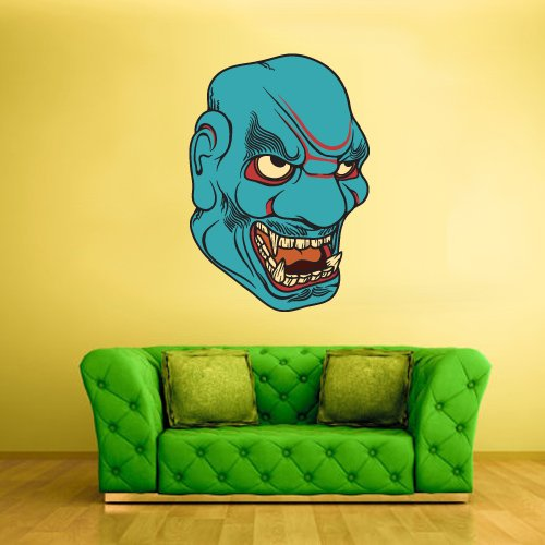 Full Color Wall Decal Mural Sticker Art Decor Asian Japan Japanese Chineese China Horror Ethnic Face Mask (Col214)