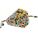 Kenneth Cole New York Mixed Multi-Color Woven Beaded Friendship Bracelet