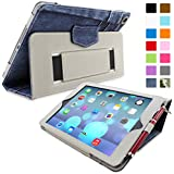 iPad Air (iPad 5) Case, Snugg™ - Smart Cover with Flip Stand & Lifetime Guarantee (Blue Denim) for Apple iPad Air (2013)