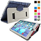 Snugg iPad Air (iPad 5) Case - Smart Cover with Flip Stand & Lifetime Guarantee (Blue Denim Leather) for Apple iPad Air (2013)