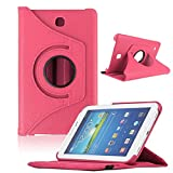 Bocideal New Case For Samsung Galaxy Tab4 7Inch Tablet, T230 Rotating 360 Case Cover (ï¼Hot Pinkï¼)
