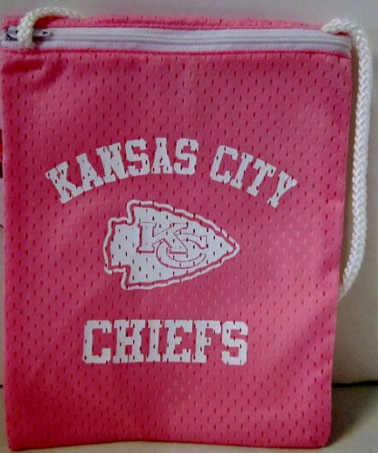 NFL Officially Licensed Kansas City Chiefs Pink Zippered Jersey Gameday Pouch Purse Bag Tote Amazon.com