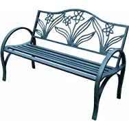 dib Global Sourcing SXL-SV613F Steel Flower Garden Bench