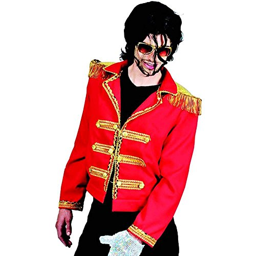 King of Pop Red Military Costume Jacket