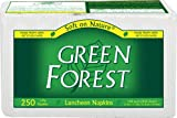 Green Forest 1-Ply Luncheon Napkins, White, Case Pack, Twelve 250-Count Packs (3000 Napkins)