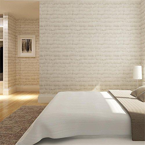 CLOERE Serie del giardino, moderno e semplice piuma fantasia carta da parati in tessuto non tessuto e parete wall adesivo decorativo