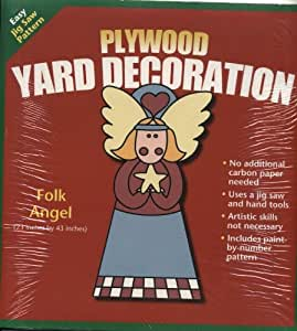 Christmas plywood yard decoration pattern folk angel for Christmas yard signs patterns