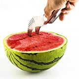Qadira Watermelon Slicer Tongs-High Quality Stainless Steel-Melon Slicer Corers, Quick and Easy Watermelon Knife Cantaloupe Fruit Peeler