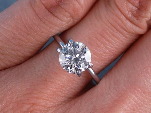 1.53 CT ROUND CUT DIAMOND SOLITAIRE ENGAGEMENT RING F SI2