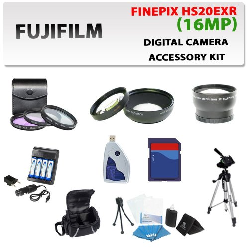 Digital Fujifilm Finepix Hs20exr Digital Camera Accessory Kit