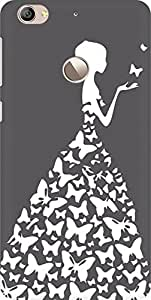 AMEZ designer printed 3d premium high quality back case cover for Letv Le 1S (grey white girl princess)