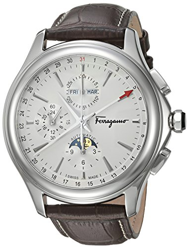 Salvatore-Ferragamo-Mens-Time-LE-Swiss-Quartz-Stainless-Steel-and-Leather-Casual-Watch-ColorBrown-Model-FFU010016