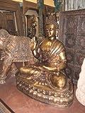 Lord Buddha-brass Buddha in Abhaya Mudra Garden Statue From India 5 Feet