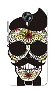 CimaCase Funny Skull Designer 3D Printed Case Cover For Micromax Canvas Xpress 2 E313