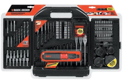 VIEW price of Black & Decker 71-622 122 Piece Drill & Drive Bit Set and