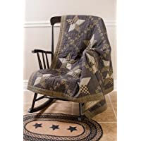 Farmhouse Star Throw Patchwork Star Quilt