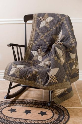 Farmhouse Star Throw Patchwork Star Quilt front-316890