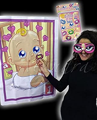 Baby Shower Party Games - Pin The dummy on the baby game
