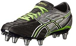 ASICS Men\'s Lethal Warno Field Shoe,Black/Grass/Silver,14 M US