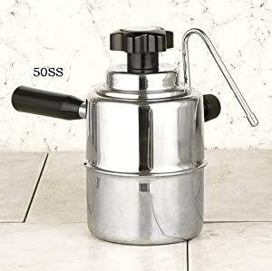 Stainless steel stove top Cappuccino steamer by European Gift