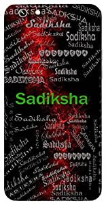 Sadiksha (Good Intention) Name & Sign Printed All over customize & Personalized!! Protective back cover for your Smart Phone : Moto G-4