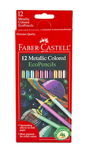 Faber-Castell 12 Count Metallic Colored EcoPencils - 1