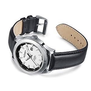 INTIMES インタイムス 44mm メンズ 腕時計 ブラック/レザーバンド