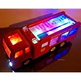 "WolVol Electric Fire Truck Toy With Lights, Sirens And Sound (""fire Alarm, Lets Go"", ""out Of My Way"""