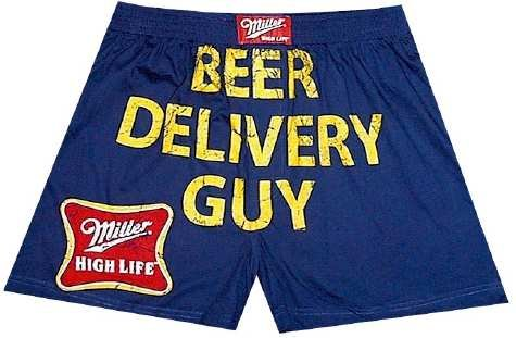 Buy Miller Beer – Beer Delivery Guy boxer shorts for men