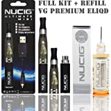 Ultimate BLACK Electronic Cigarette + VANILLA Flavour Choice of 20ml VG Eliquid Refill New for Summer 2014 ego ehookah e shisha e cigarette electric cigarette Without Nicotine / Without Tobacco