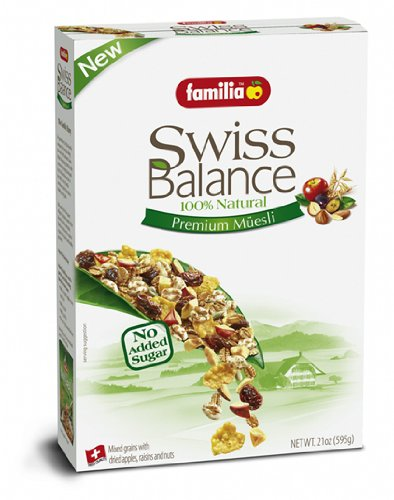 Familia 100% Natural Swiss Muesli Cereal, 21-Ounce Boxes (Pack of 6)